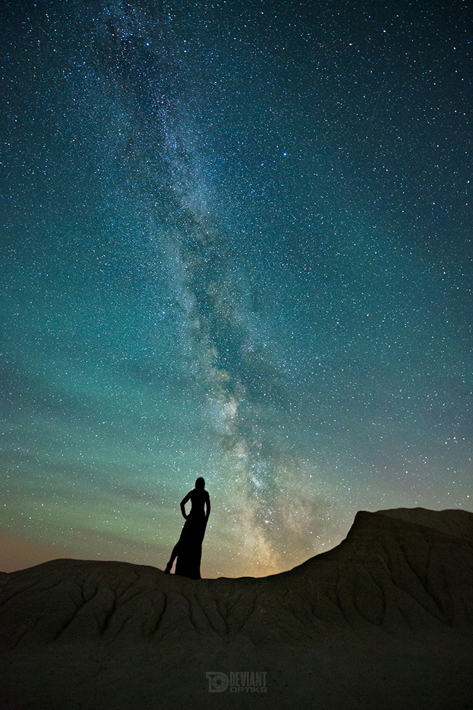 Milky Way Self Portrait Dinosaur Provincial Park