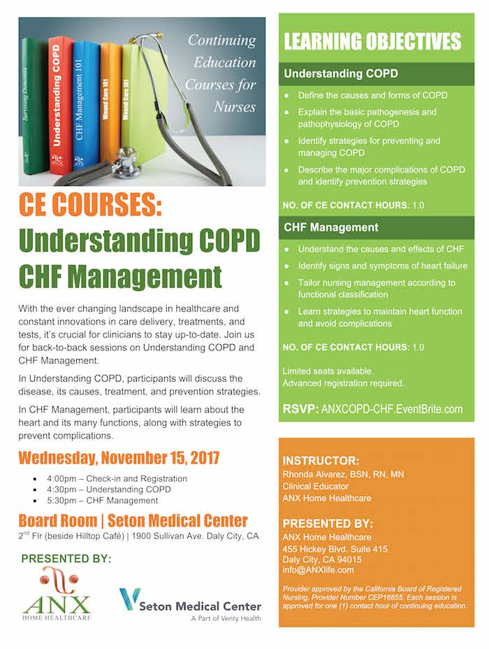 CE Courses: COPD-CHF Seton