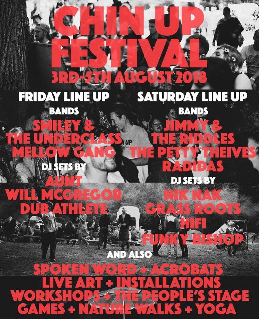 Chin Up Festival line up poster