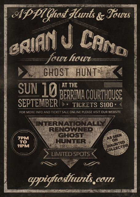 Brian J Cano Ghost Hunting Berrima Court House