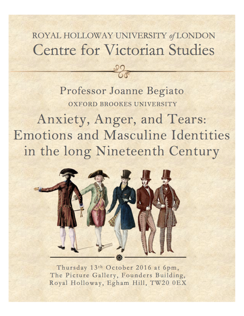 Anxiety, Anger & Tears: Emotions & Masculine Identities