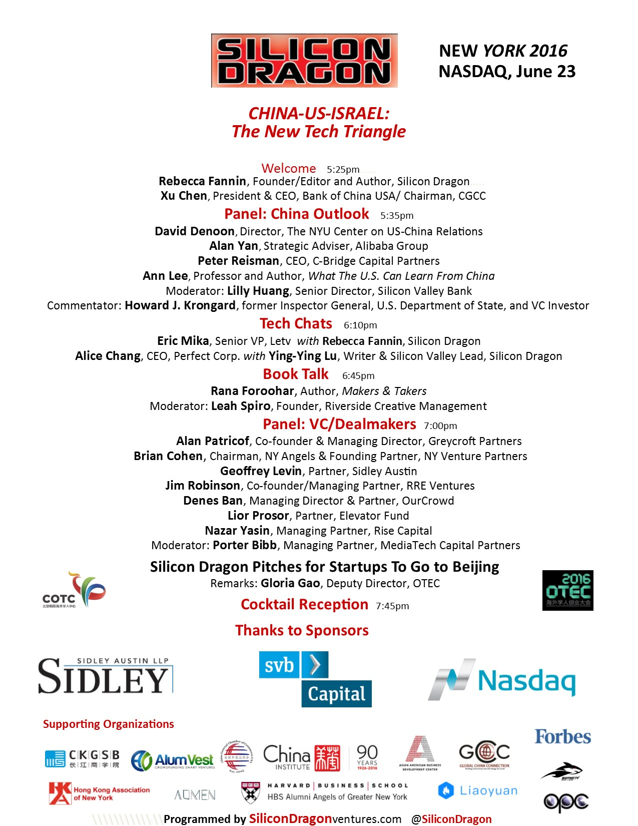 Silicon Dragon NY 2016 program