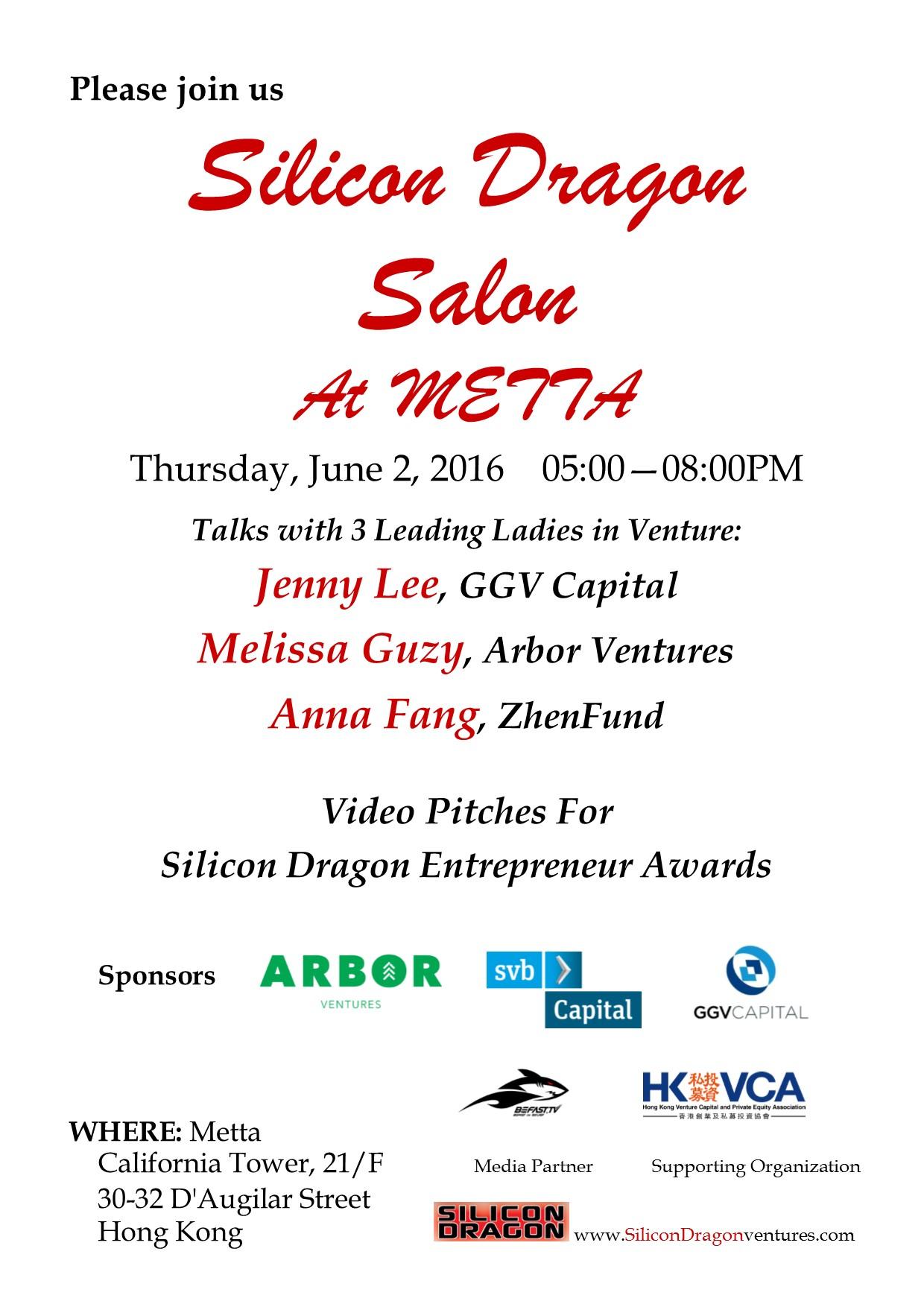 Silicon Dragon Salon, June 2, at Metta