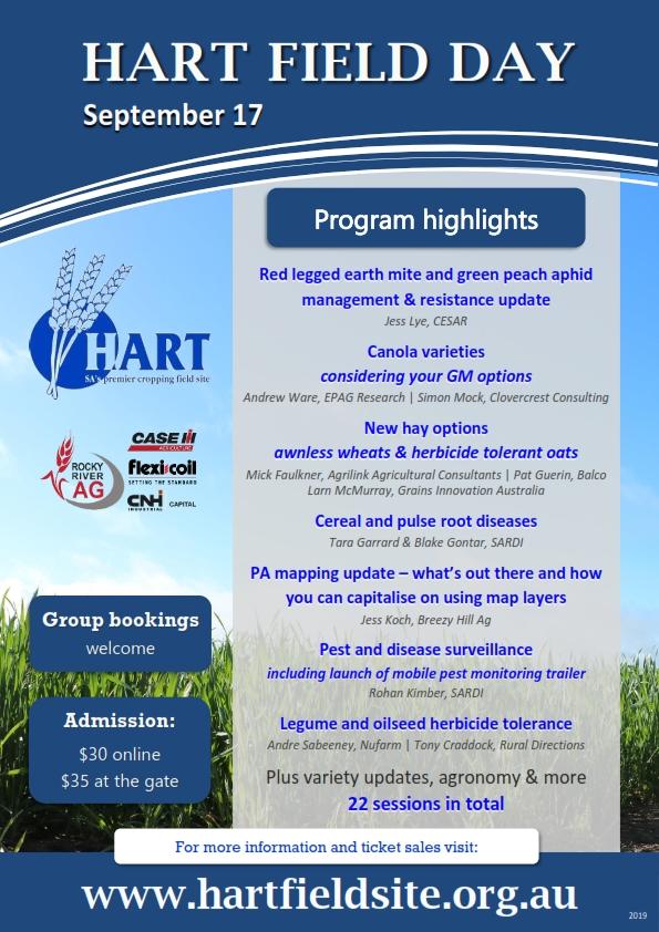 Hart Field Day 2019 - Program highlights