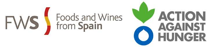 Combined logos for Foods & Wines from Spain and Action Against Hunger Canada