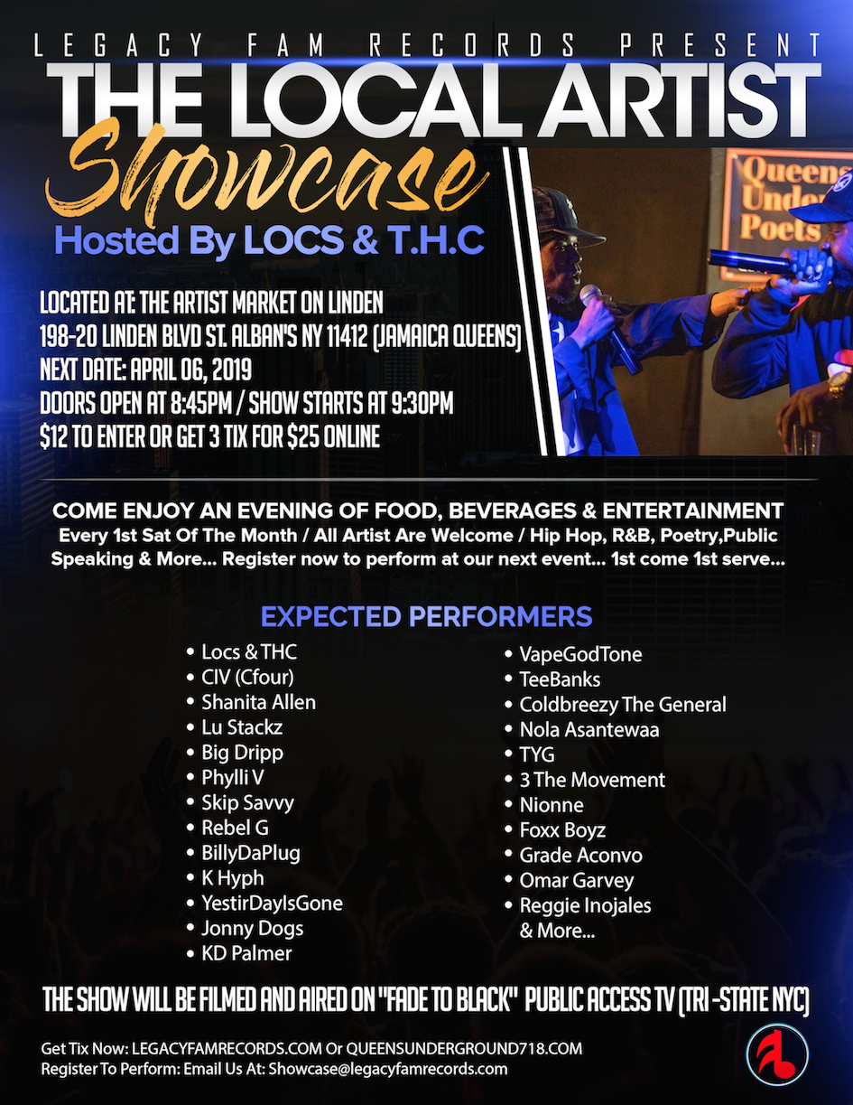 Local Artist Showcase  Legacy Fam & The Artist Market