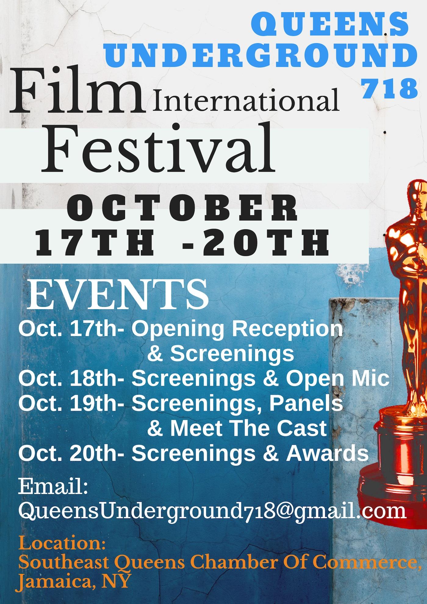 queens underground 718 film festival