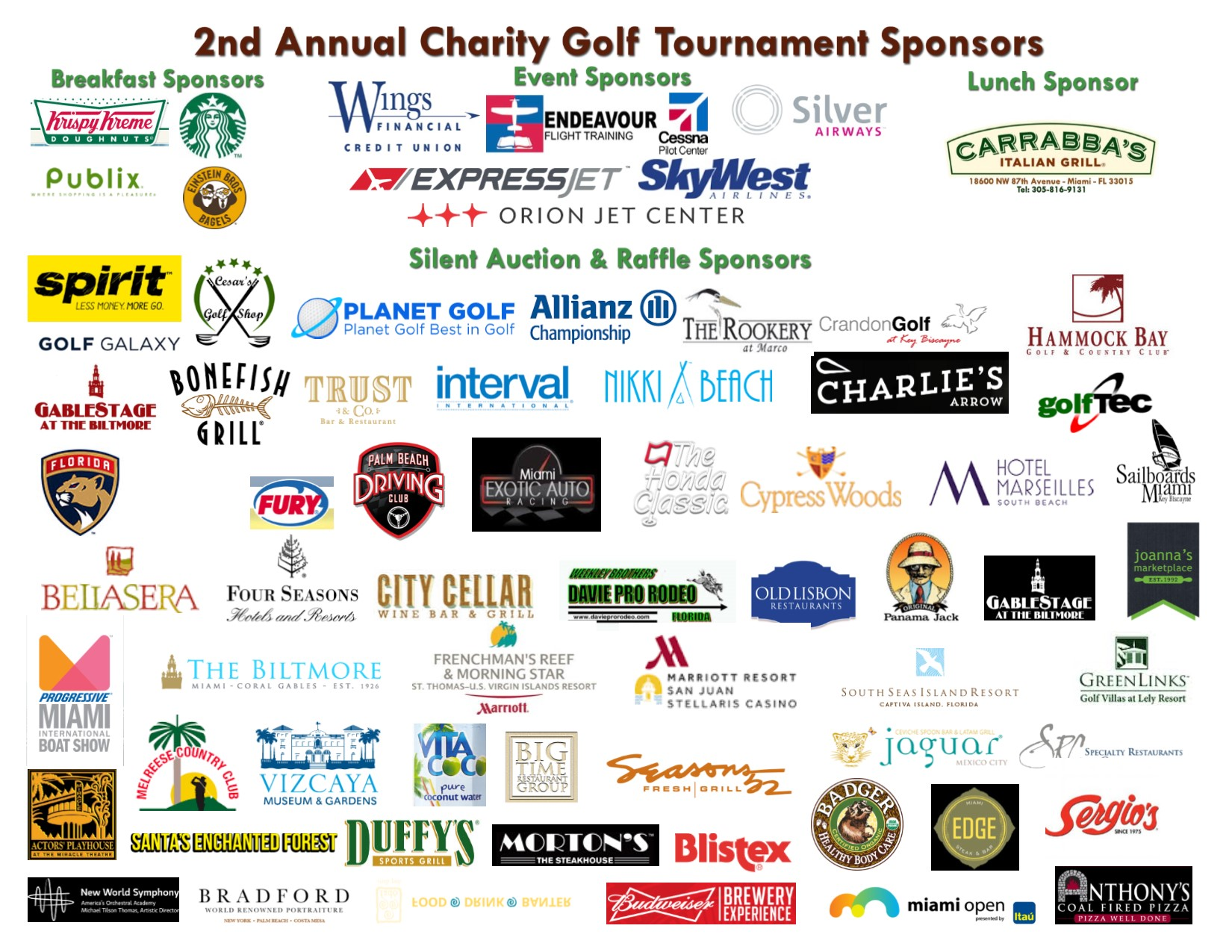 2016 Sponsors and Supporters logos