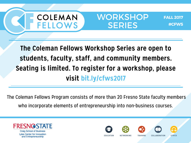Coleman Fellows Workshop Series