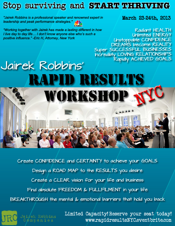 Rapid Results Workshop NYC Flyer