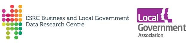 Local Government Association logo (LGA) ndn BLG Data Research Centre logo