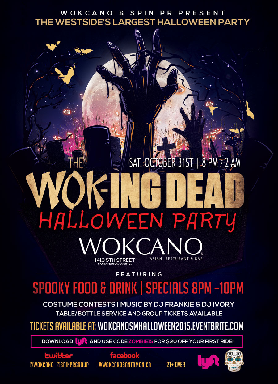 WOK-ing DEAD Halloween Party 2015 Tickets, Sat, Oct 31, 2015 at 8 ...
