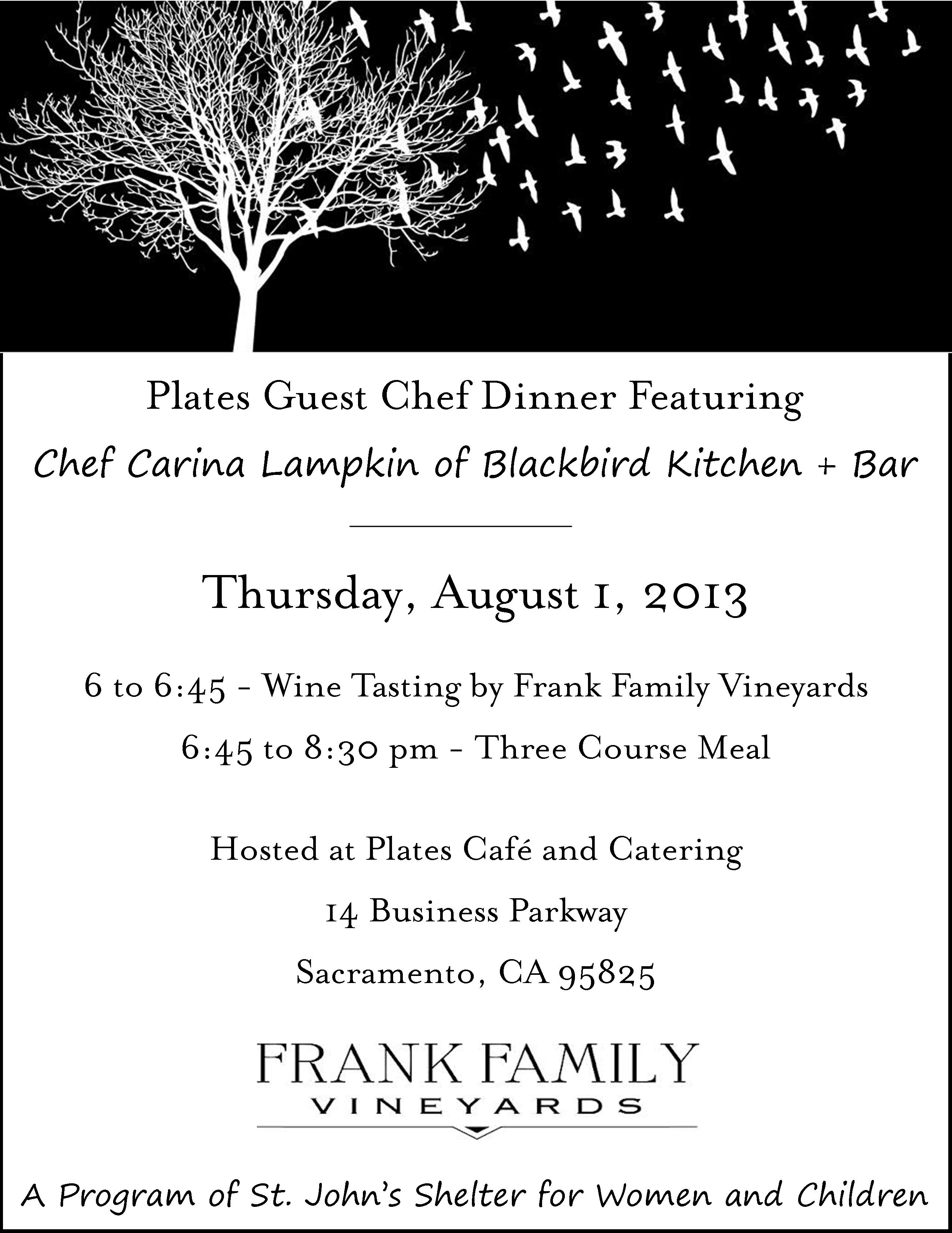 Featuring Chef Carina Lampkin of Blackbird Kitchen + Bar