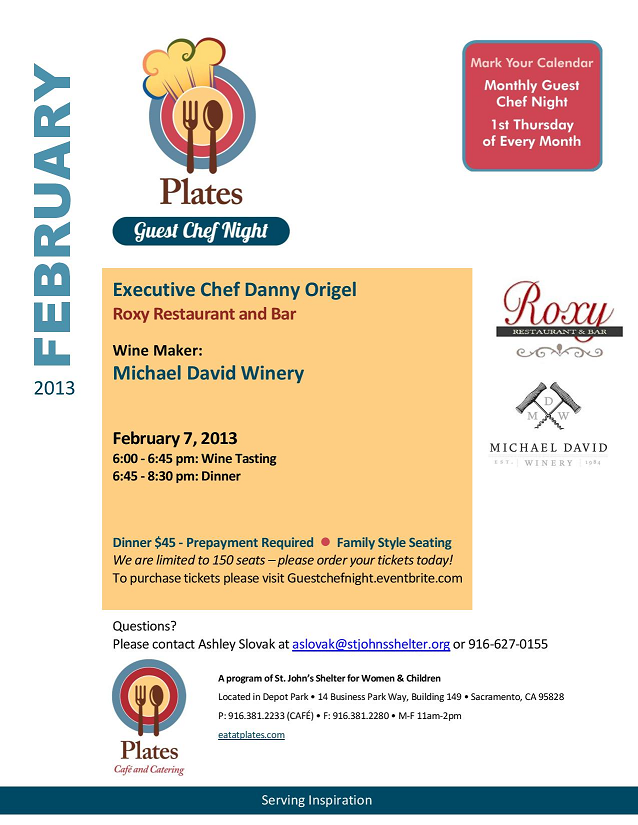 Guest Chef February 2013 Flyer