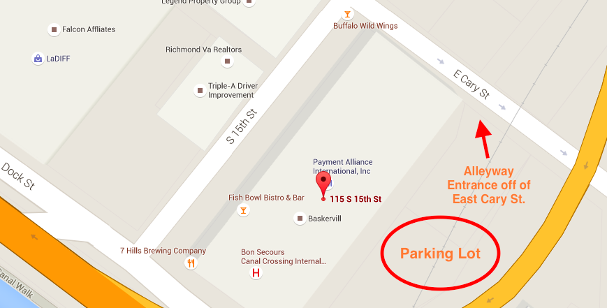 Map of Whittington Consulting Parking