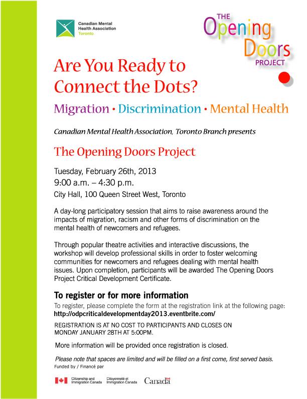 flyer Opening Doors Critical Development Day