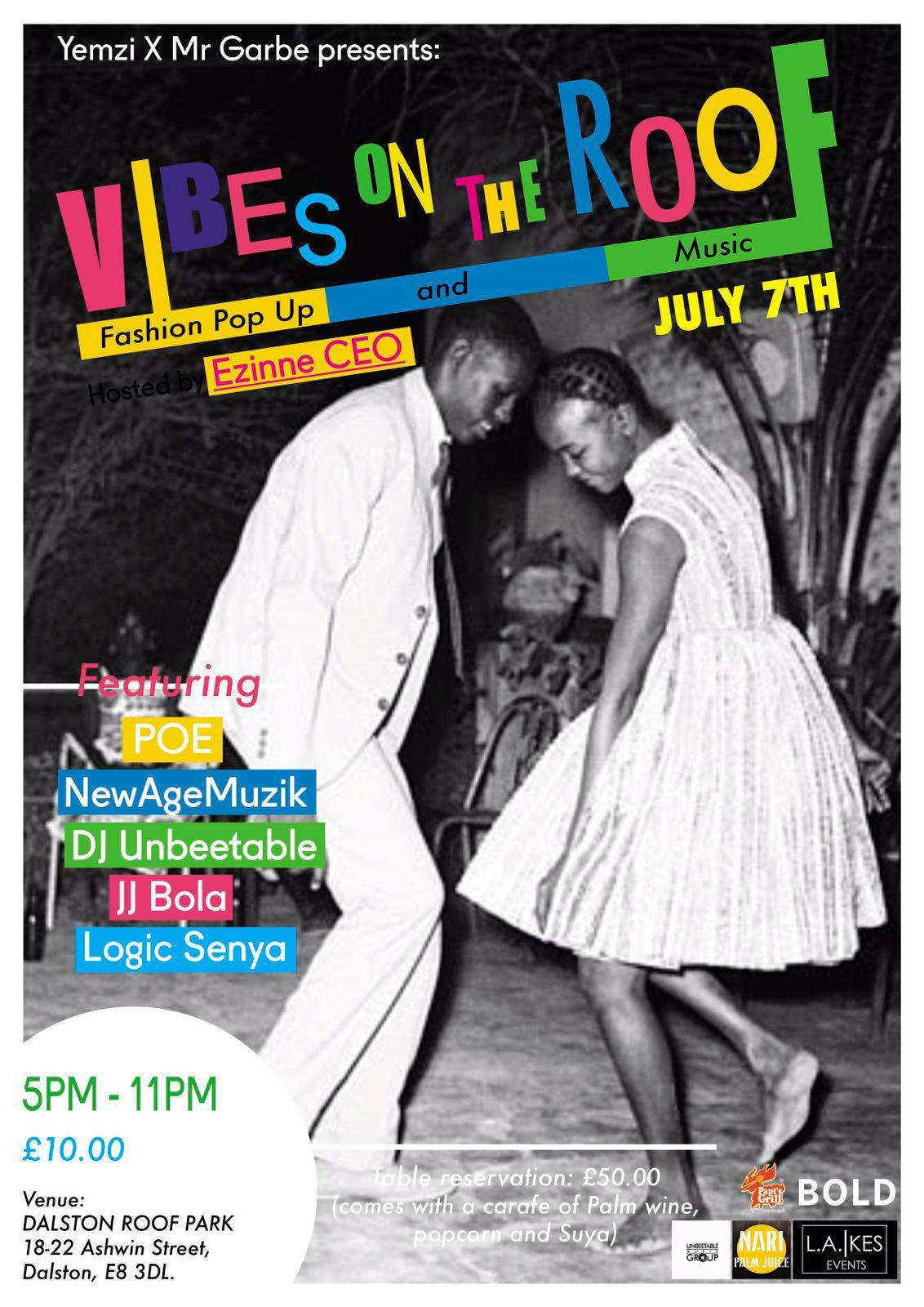 Vibes On The Roof - Fashion and Music - July 7th
