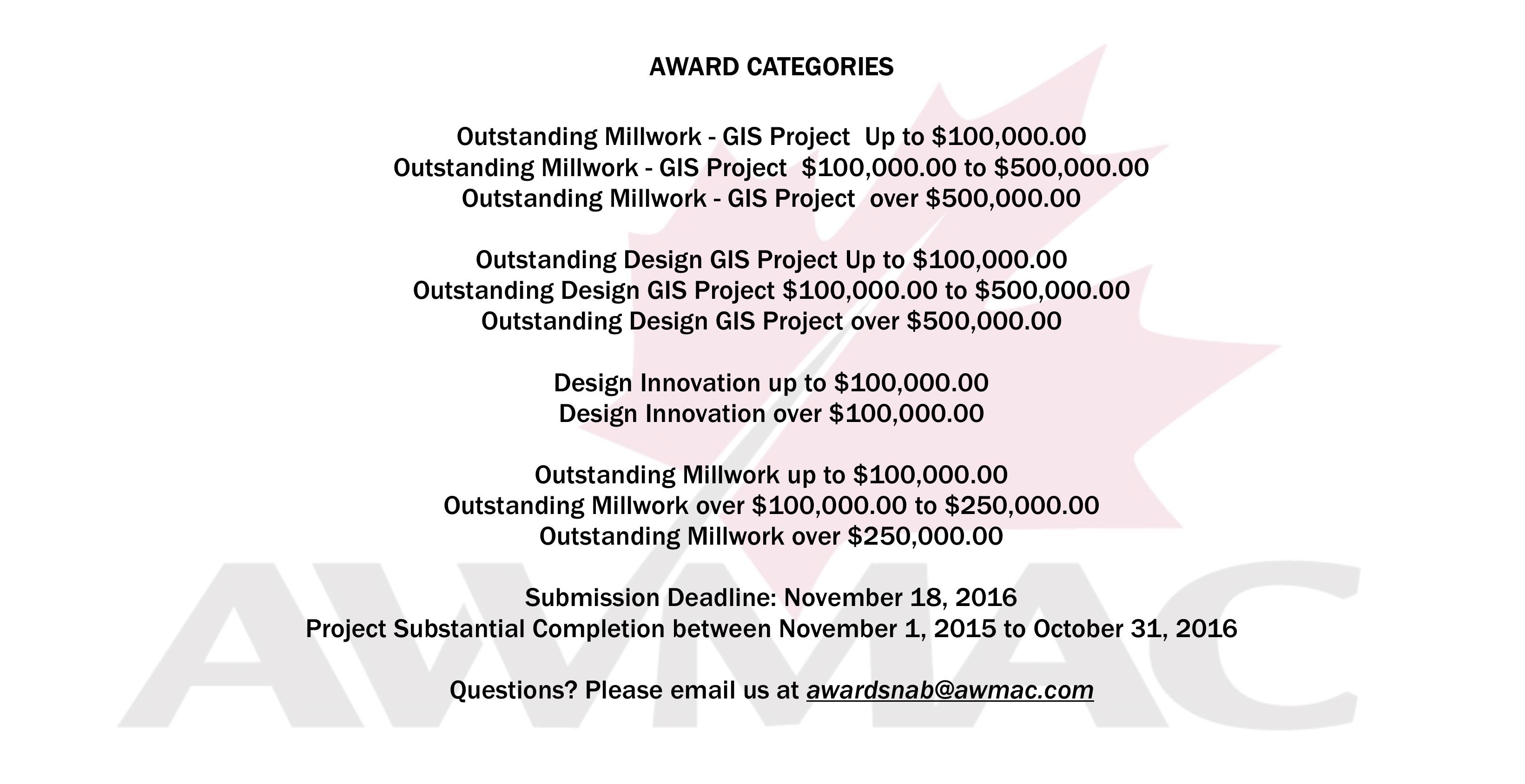 Awards Criteria