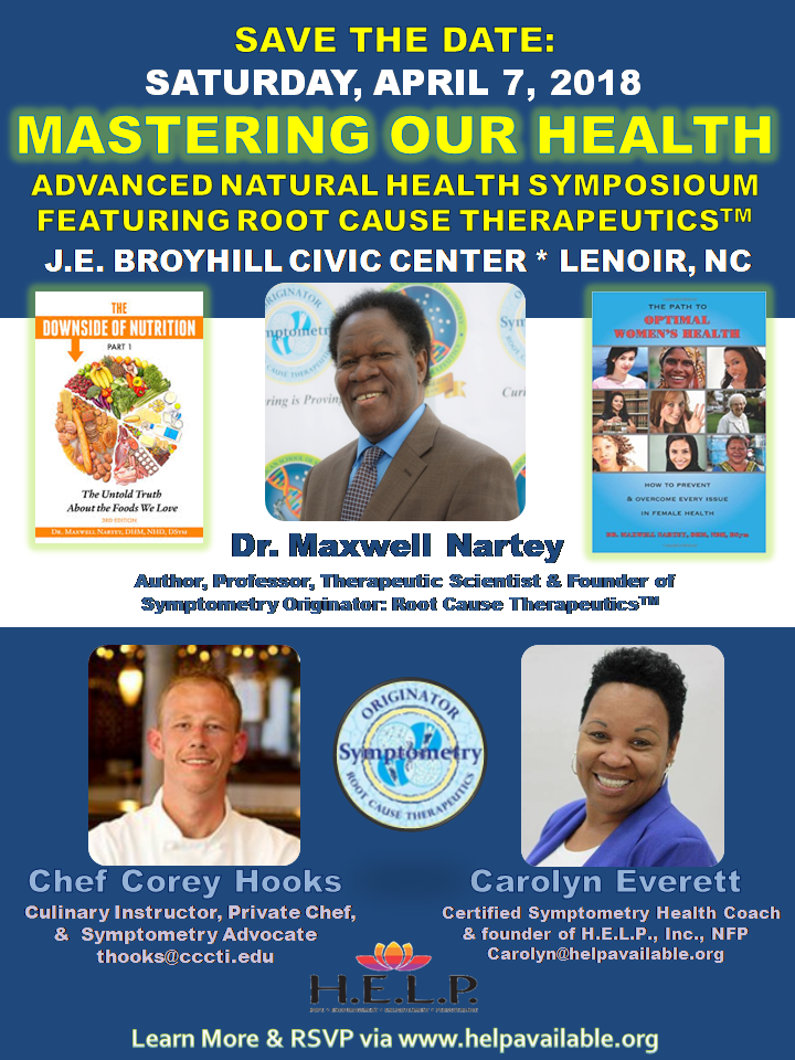 Save the Date, Advanced Natural Health Symposium Featuring Symptometry