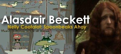 A Beckett banner