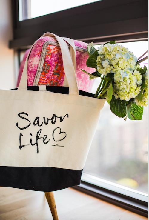 Savor Life bag