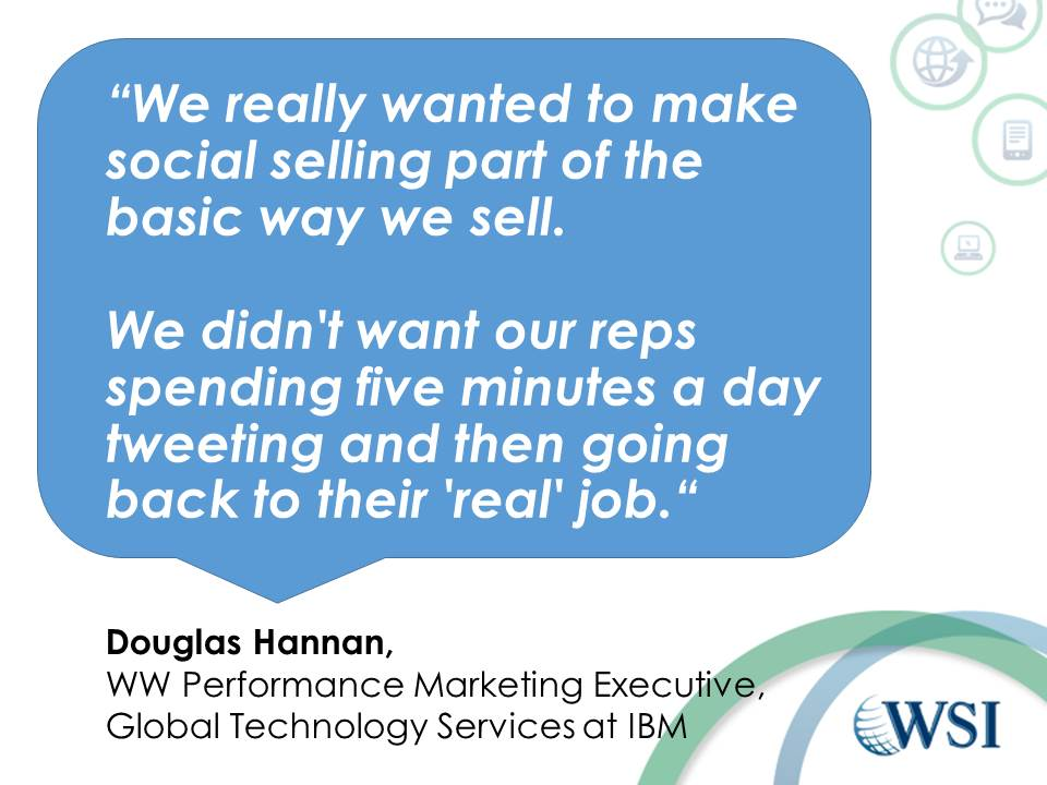 IBM Quote on Social Selling