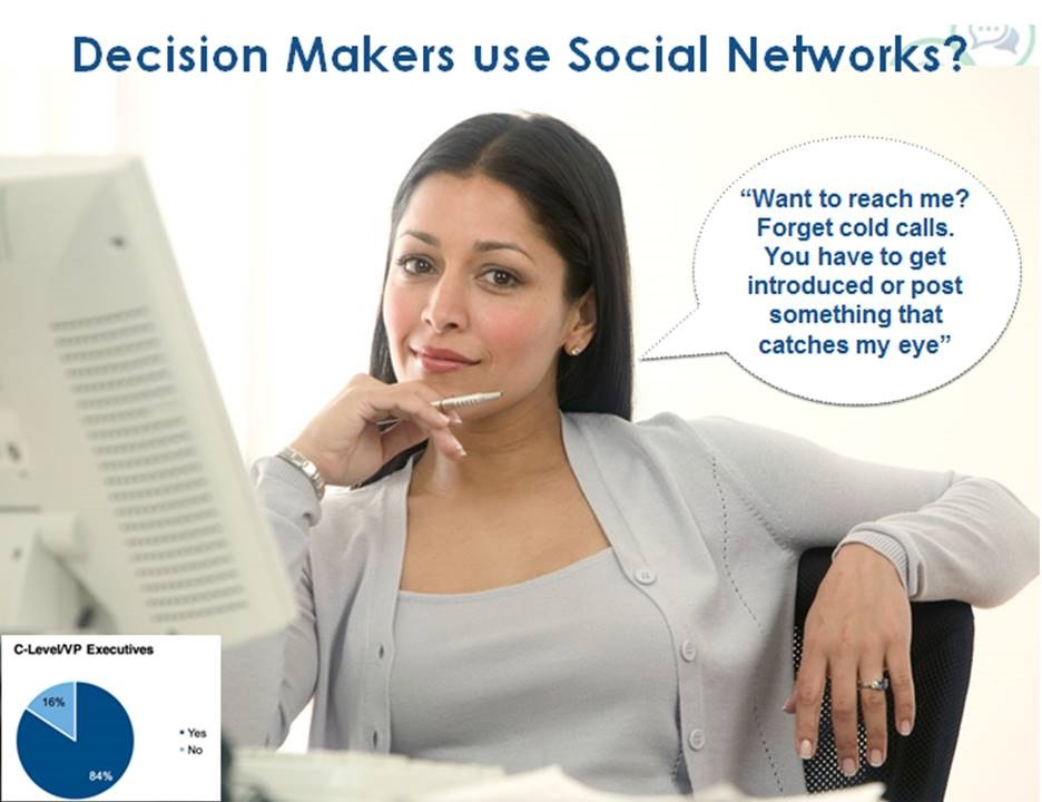 Decision makers on social media