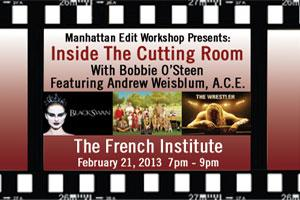 Inside The Cutting Room Featuring Andrew Weisblum, A.C.E.