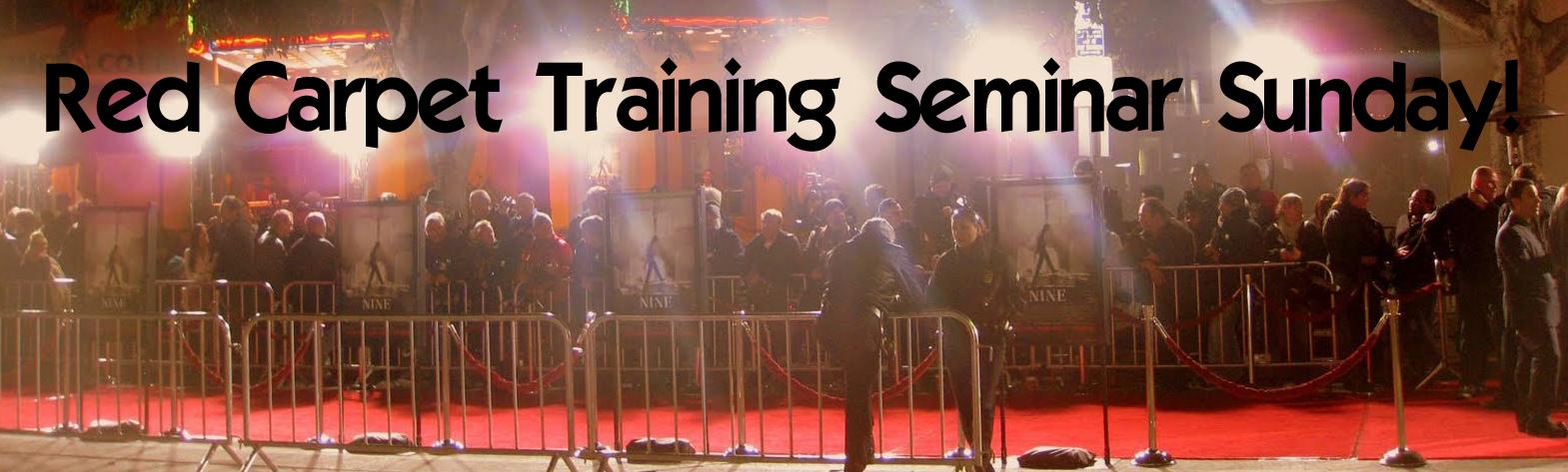 Red Carpet Training Sunday
