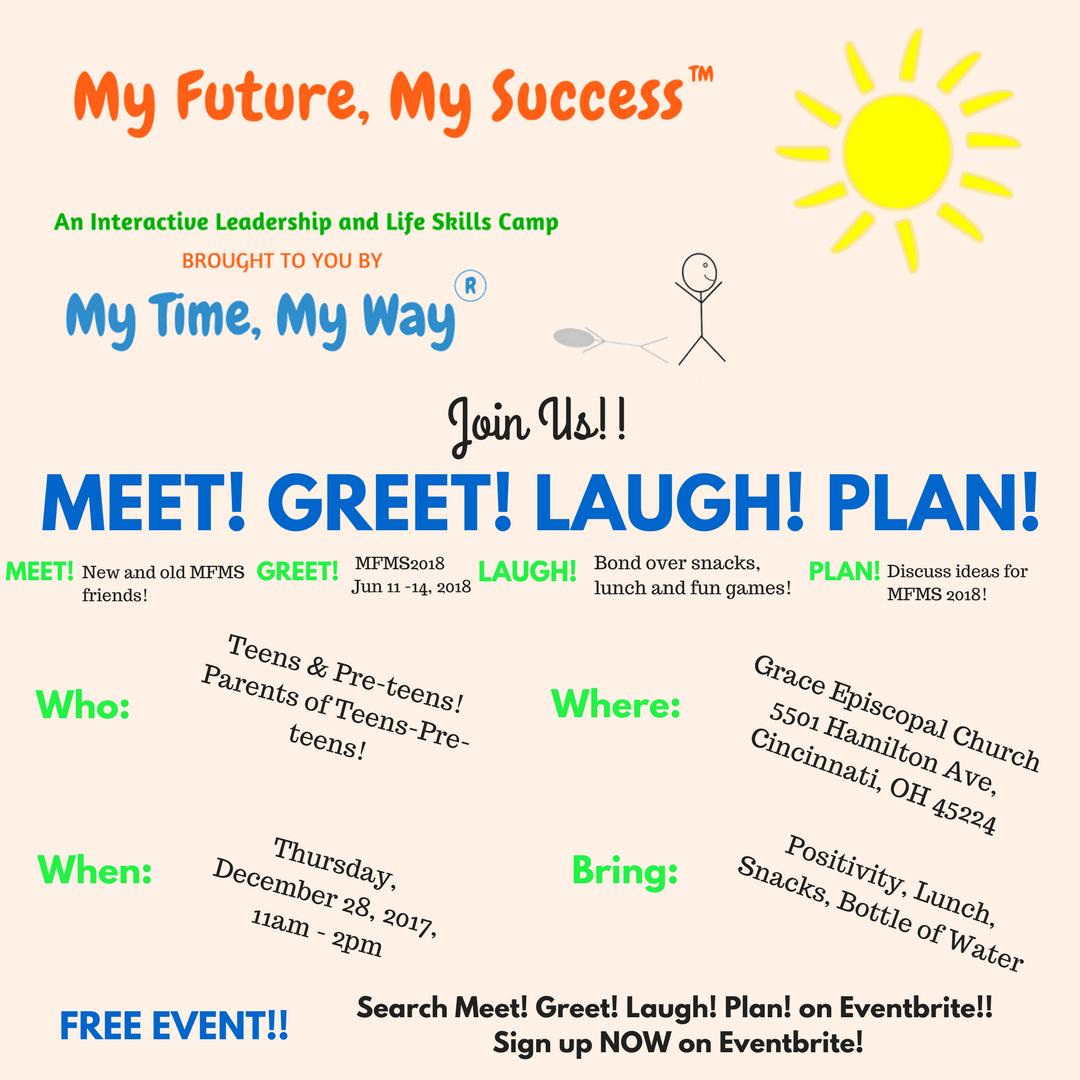 Meet! Greet! Laugh! Plan!