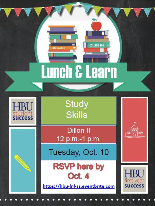 Lunch & Learn Flyer - Study Skills