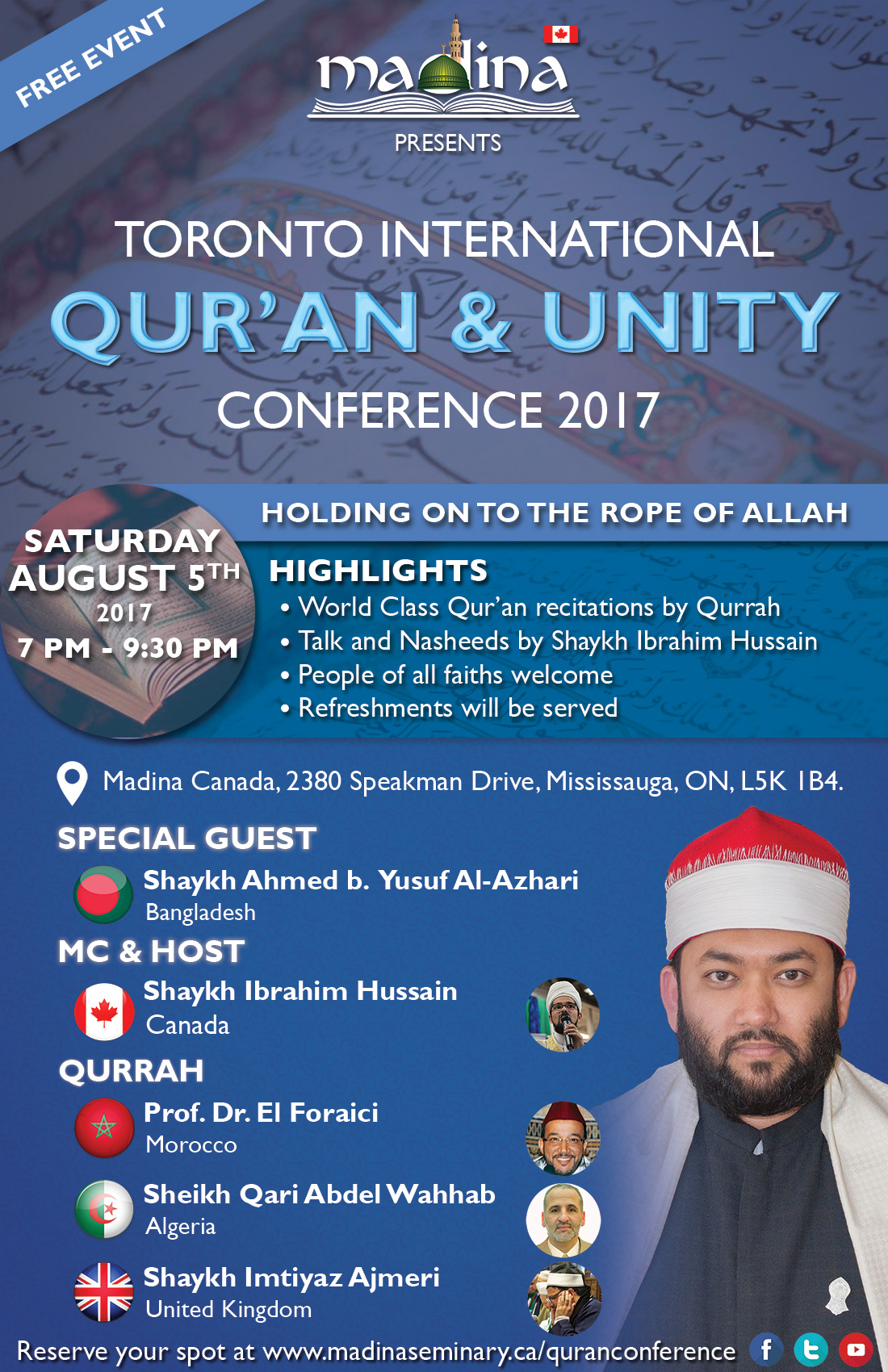 Toronto International Qur'an and Unity Conference 2017