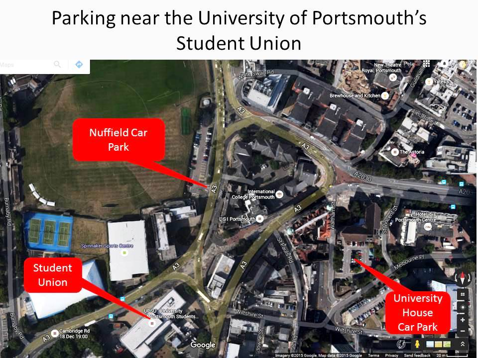Parking near the student's union