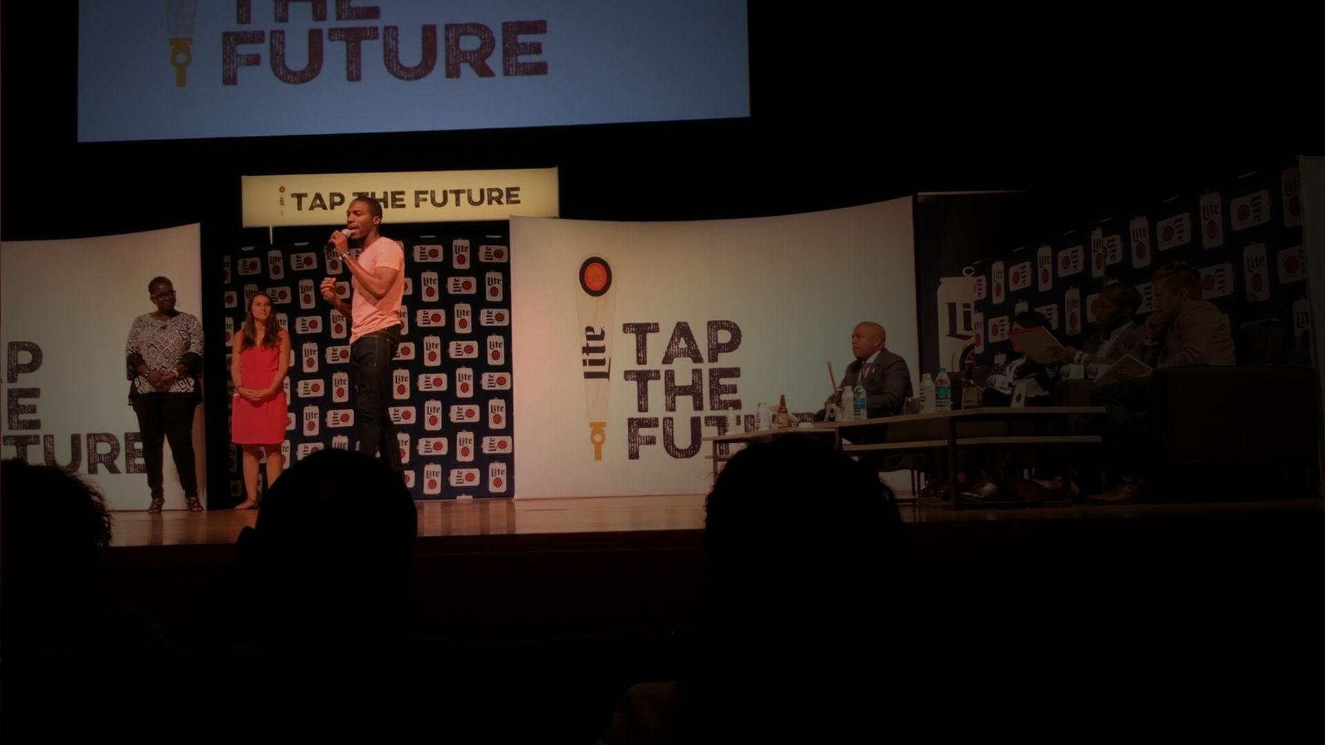 Prinston Speaking at Tap the Future