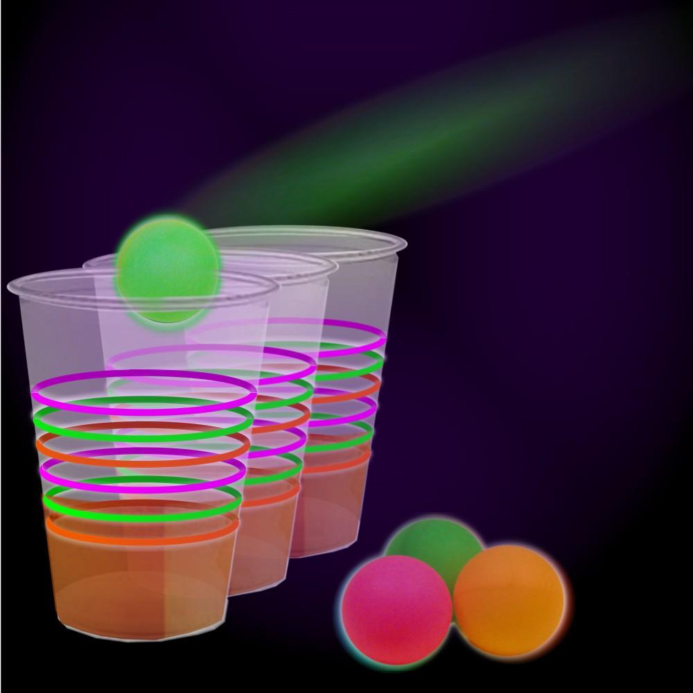 neon beer pong