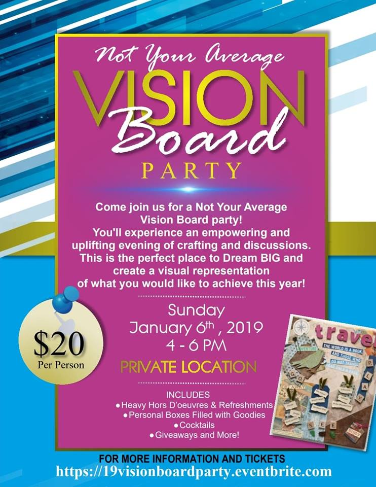 Vision Board Workshop | Future Leaders of Yale |Events Vision Board