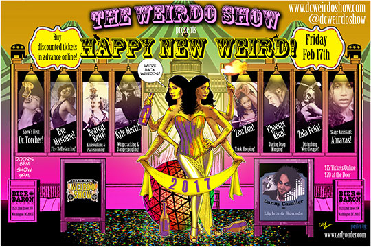Dc Weirdo Show Presents Happy New Weird Tickets Fri