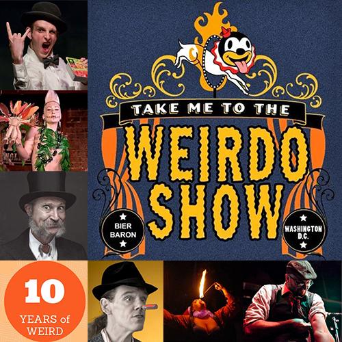 Cast Photos for February and Weirdo Show Logo