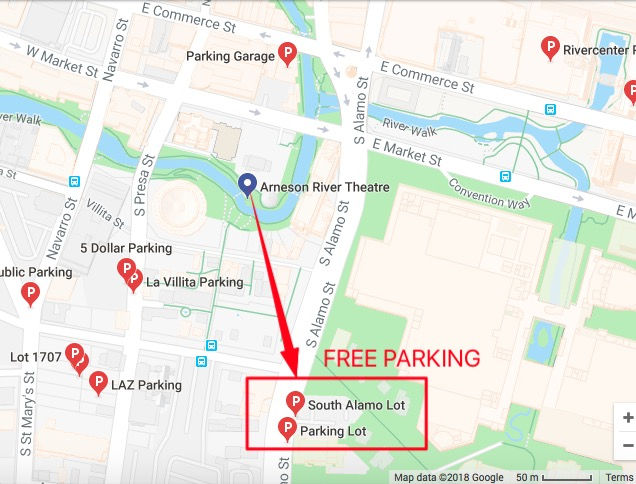 Arneson Theater Parking Map