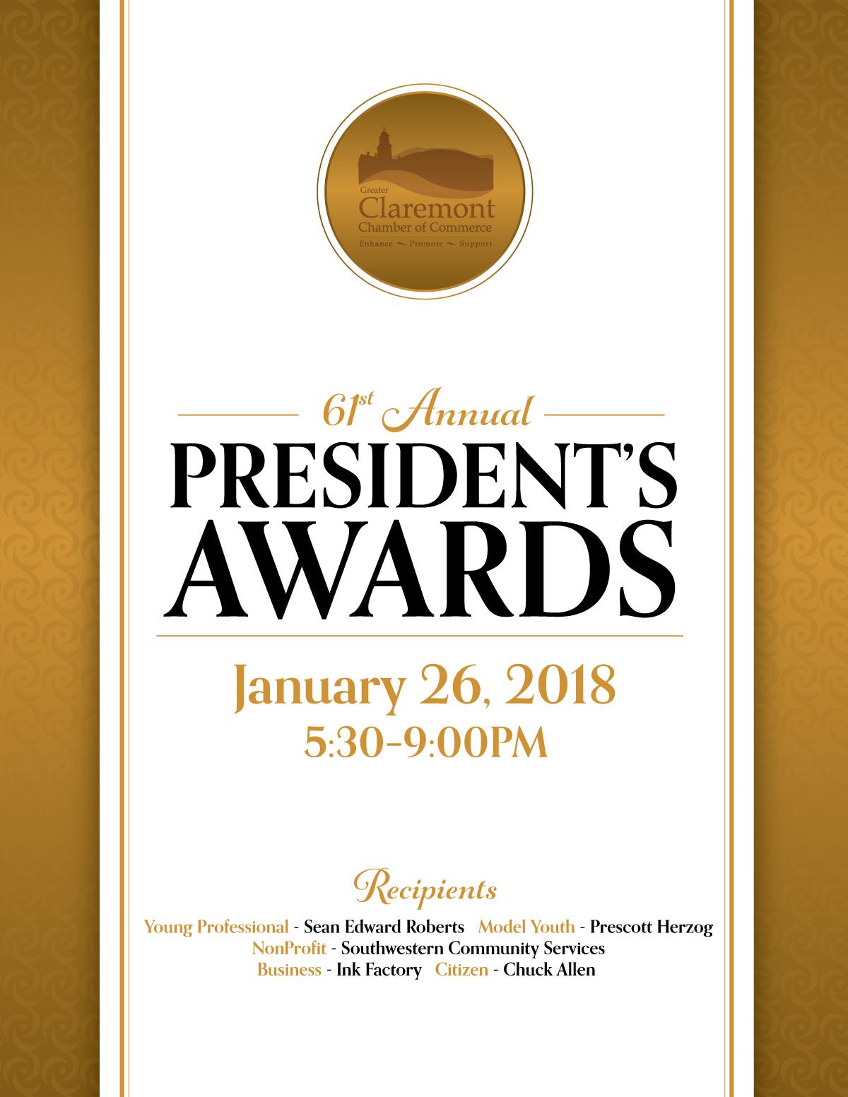 President's Award Recipients