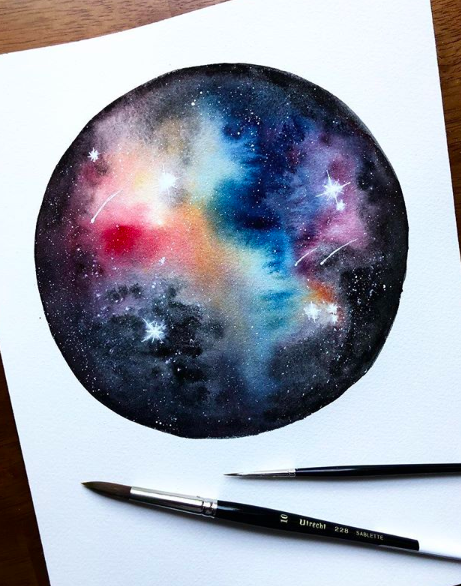 painting the galaxy a watercolor workshop taught by writing desk
