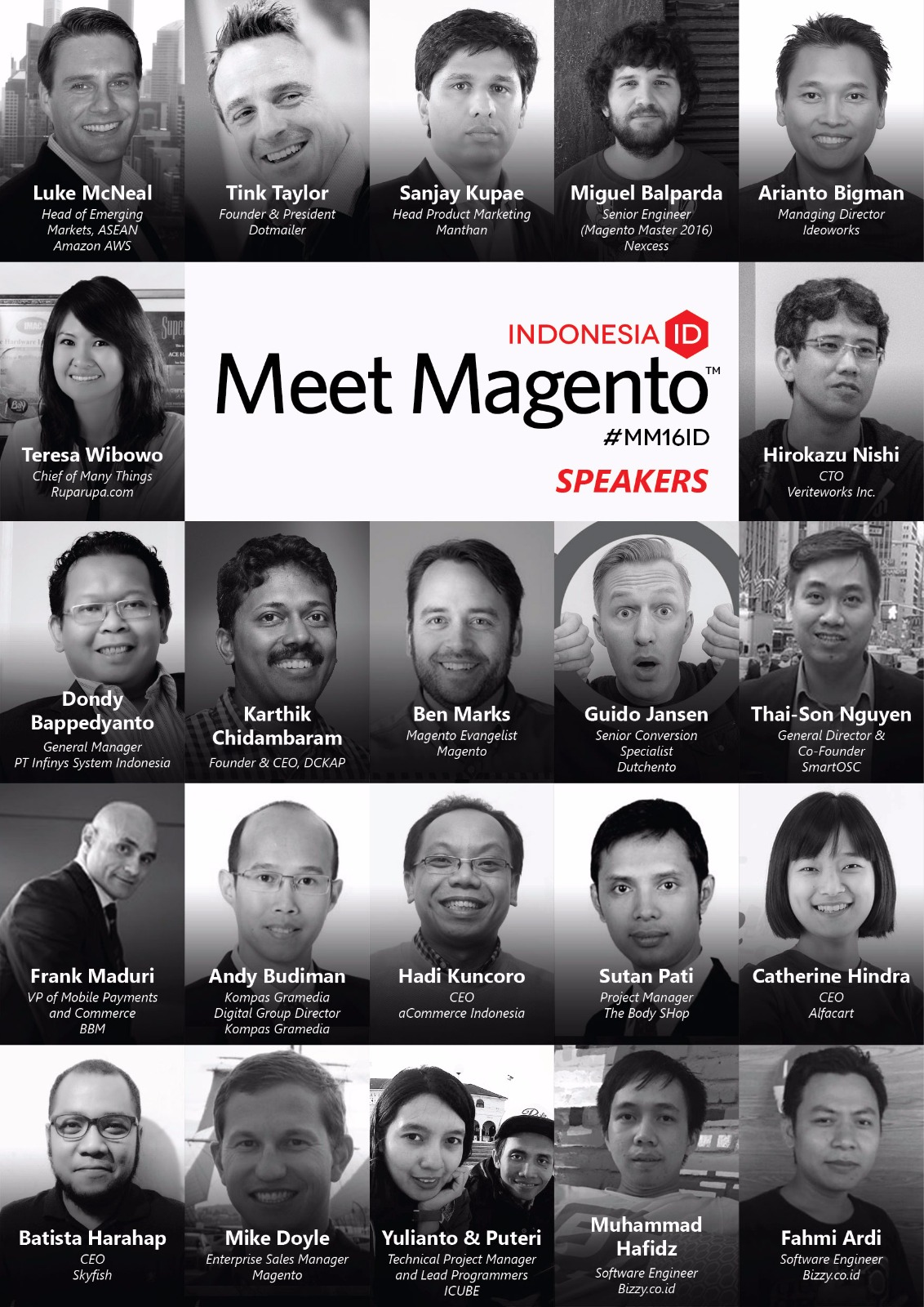 Meet Magento 2016 ID Speakers