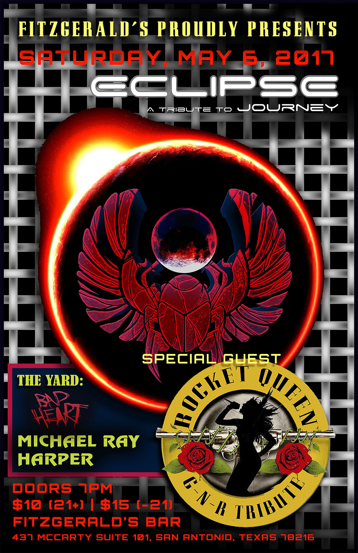 Journey Eclipse and Rocket Queen Guns N' Roses