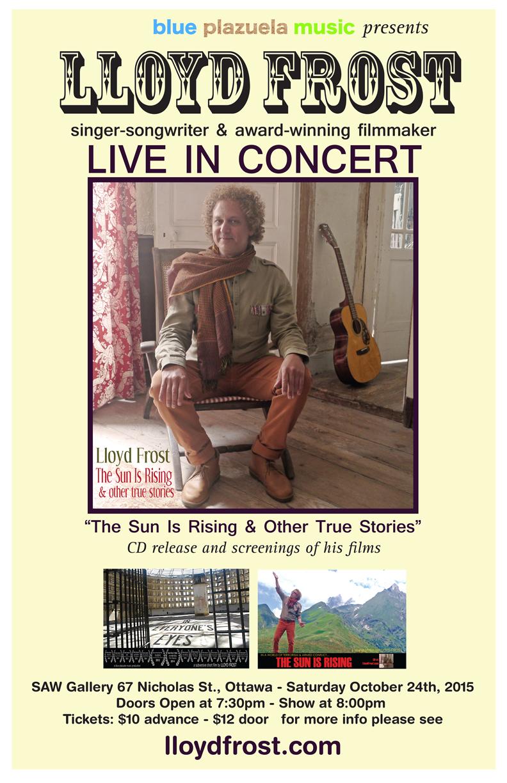 Lloyd Frost - venue poster - CD Release