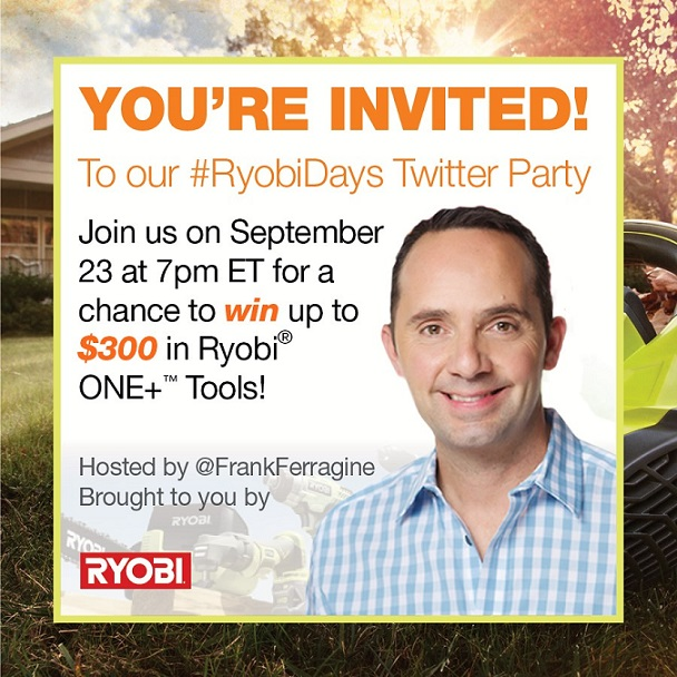 #RyobiDays Twitter Party Invite