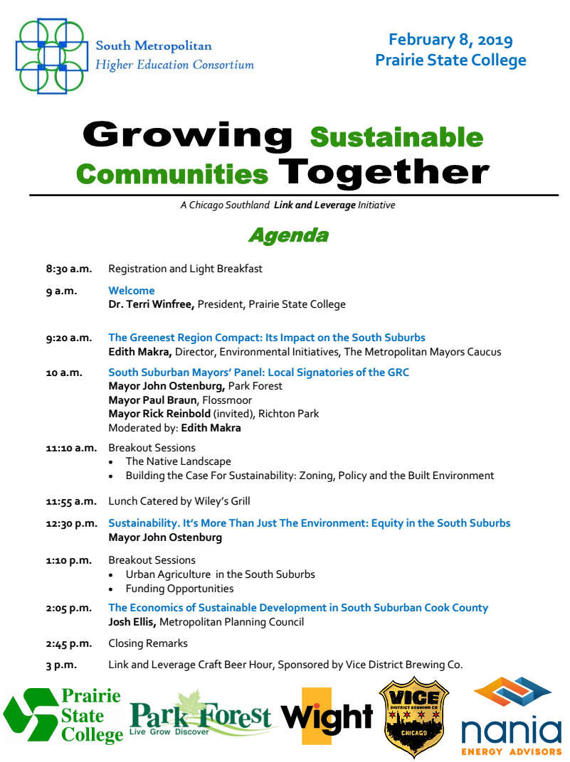 Growing Sustainable Communities Conference Agenda