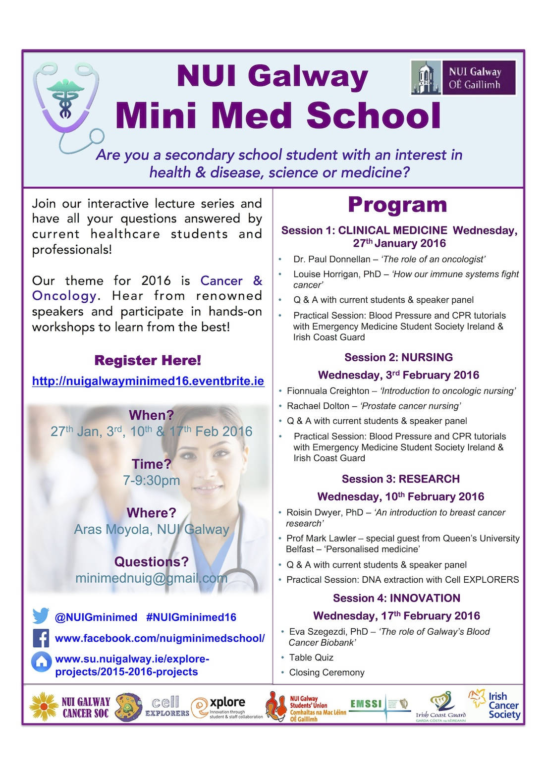 NUI Galway MiniMed school 2016 Poster
