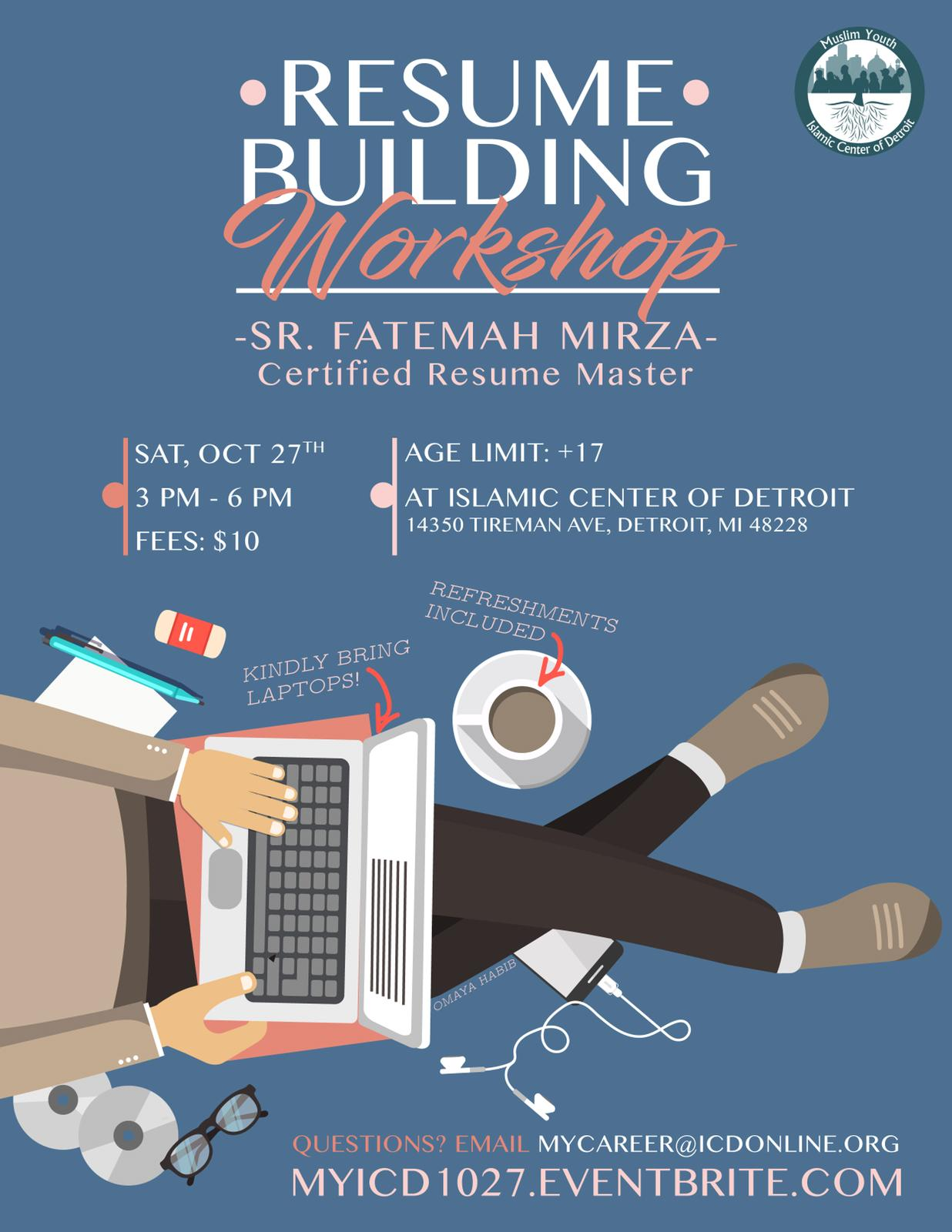Resume Building Workshop With Certified Resume Master Fatemah
