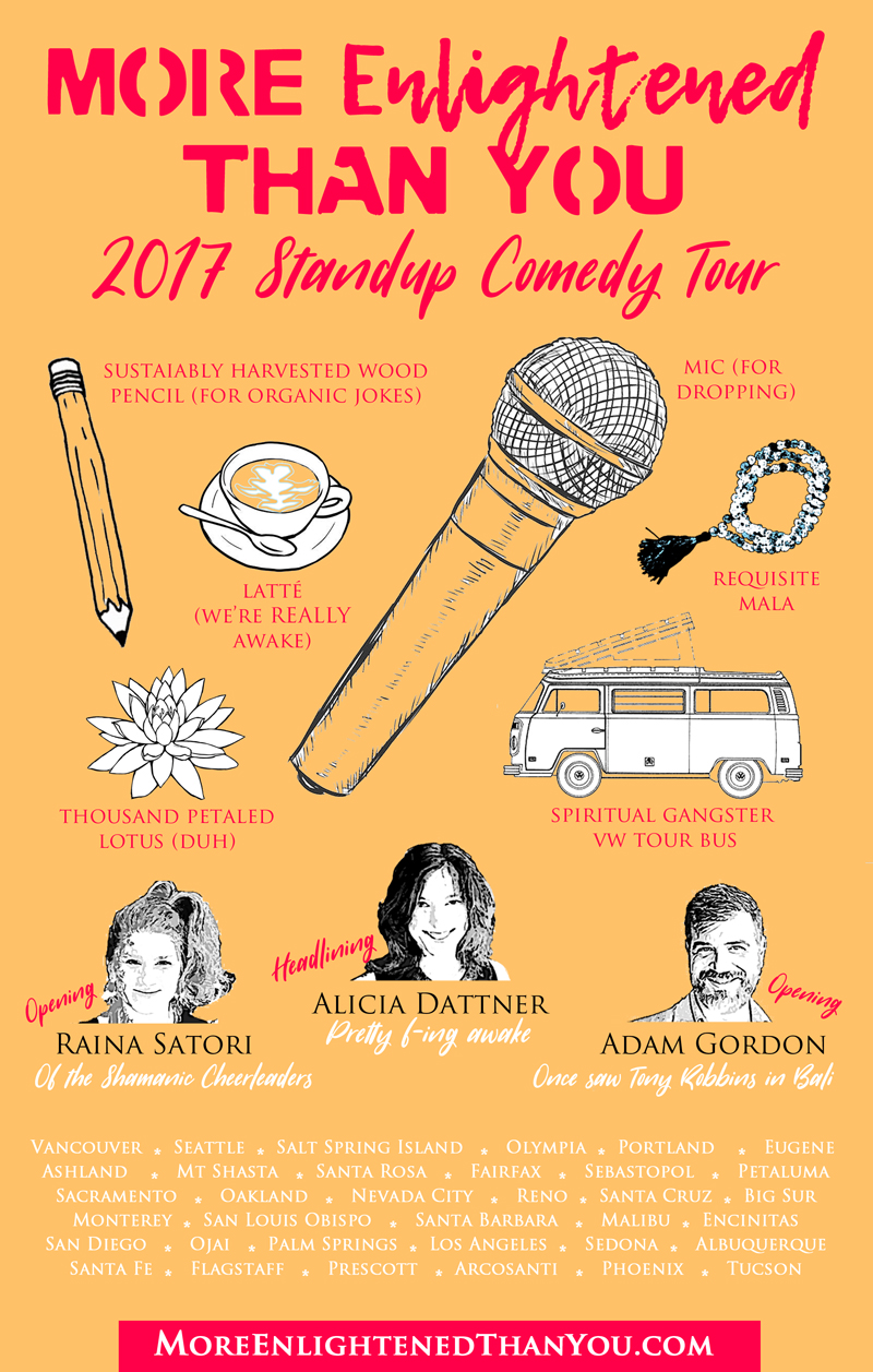 More Enlightened Comedy Tour Poster