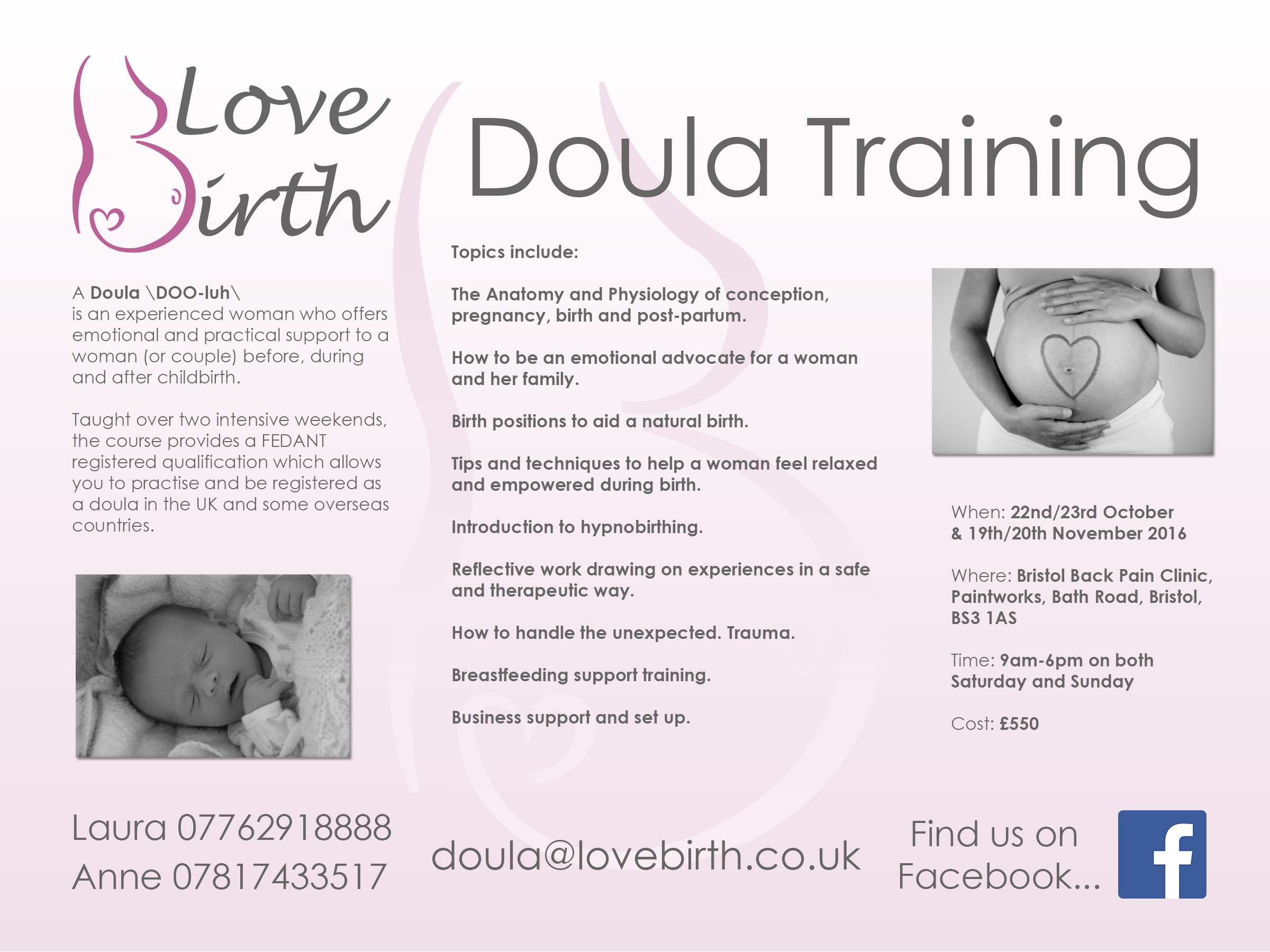 Doula Training Advert